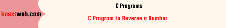 C Program to Reverse a Number