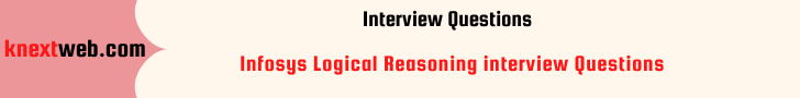Infosys Logical Reasoning interview Questions